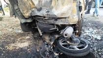Penampakan 3 Kendaraan Terbakar yang Tewaskan 4 Pemudik di Subang