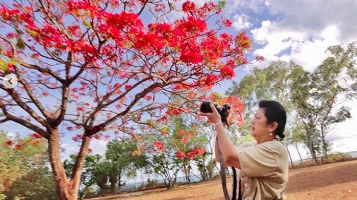 Mendiang Ani Yudhoyono dan kecintaannya pada fotografi. (Foto: Ani Yudhoyono/Instagram)