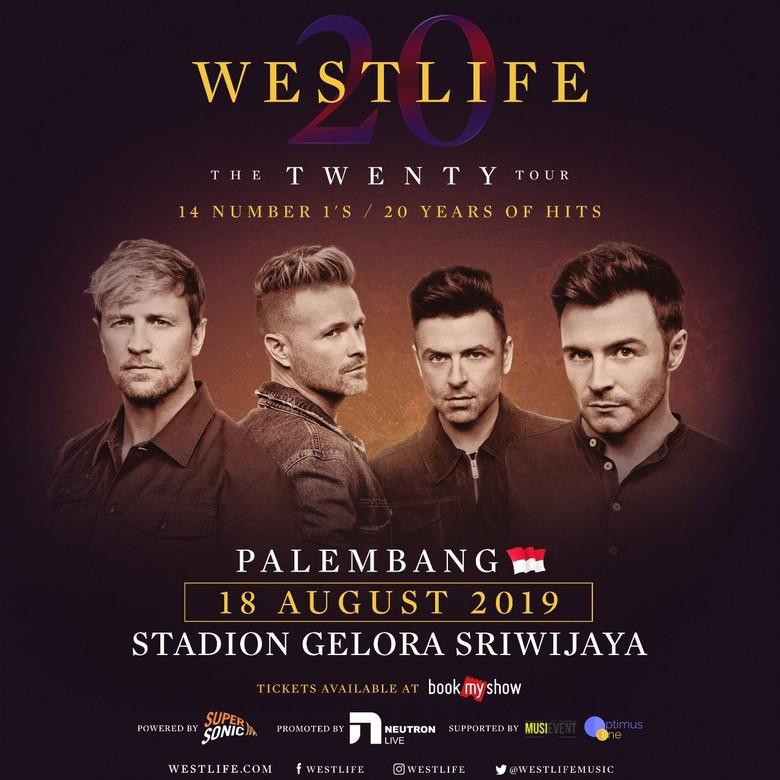 Banyak Peminat, Westlife Gelar Konser di Palembang Foto: Istimewa
