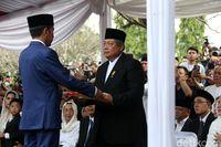Momen pemakaman Ani Yudhoyono