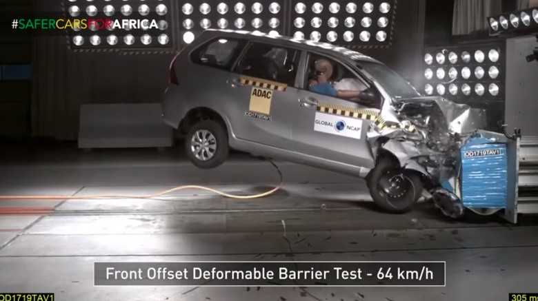 Crash Test Avanza. Foto: Global NCAP