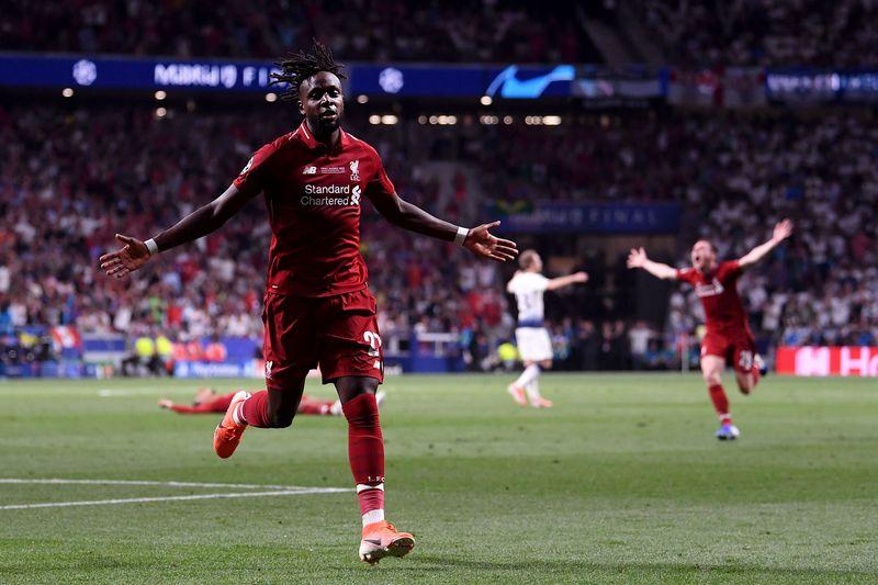 Divock Origi mencetak 1 gol, membawa Liverpool menang 2-0 atas Tottenham Hotspur di Final Liga Champions, Madrid, Minggu (2/6) (Laurence Griffiths/Getty Images)