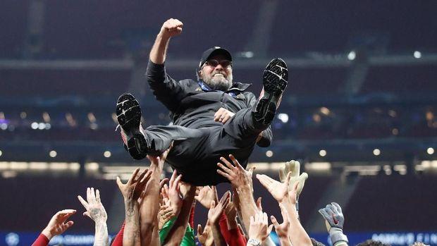 Juergen Klopp sukses mengantar Liverpool juara Liga Champions.
