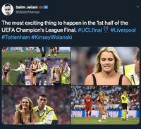Penyusup Seksi di Final Liga Champions Bikin Netizen Kepo