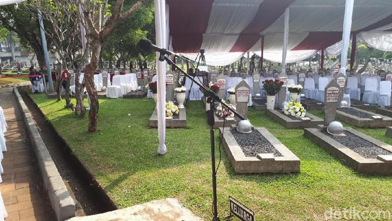 Suasana TMP Kalibata Jelang Pemakaman Ani Yudhoyono