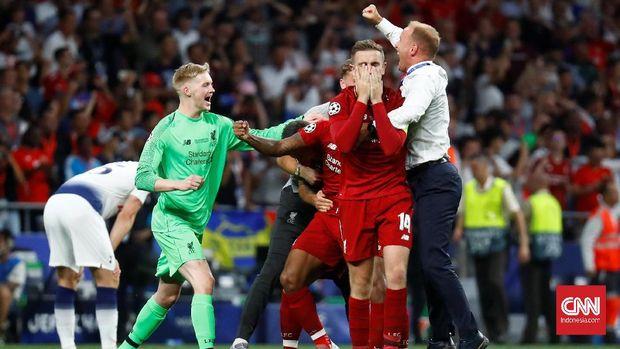 Liverpool juara Liga Champions usai kalahkan Tottenham Hotspur 2-0.