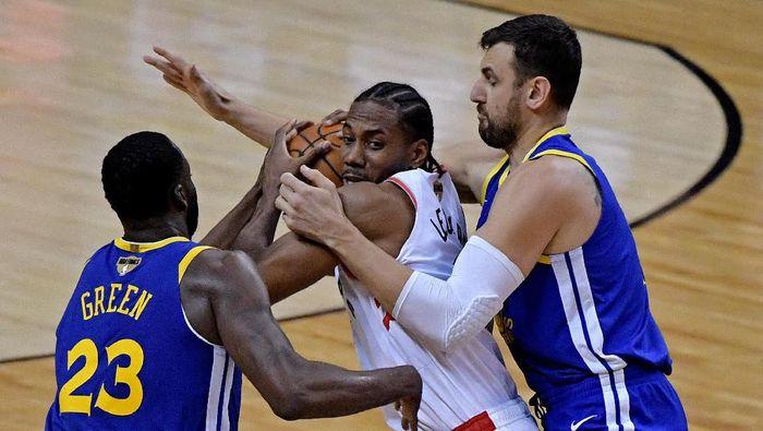 Golden State Warriors mengalahkan Toronto Raptors 109-104 di gim kedua Final NBA 2019. (Foto: Dan Hamilton-USA TODAY Sports/Reuters)