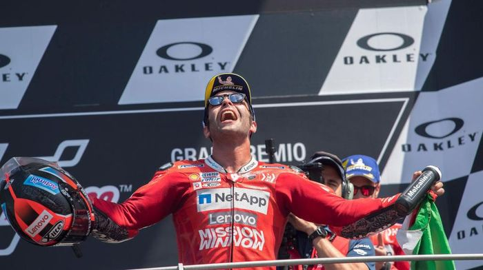Pebalap Ducati, Danilo Petrucci. (Foto: Mirco Lazzari gp/Getty Images)