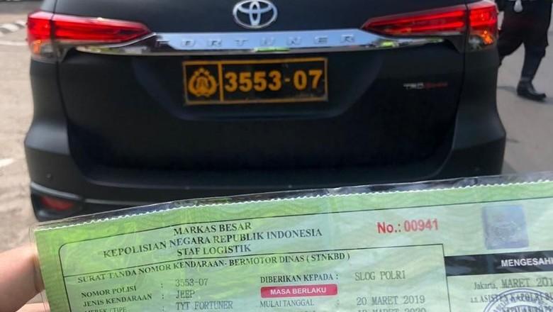 Kasus Kevin Kosasih, Polri akan Tertibkan Penerbitan Pelat dan STNK Dinas