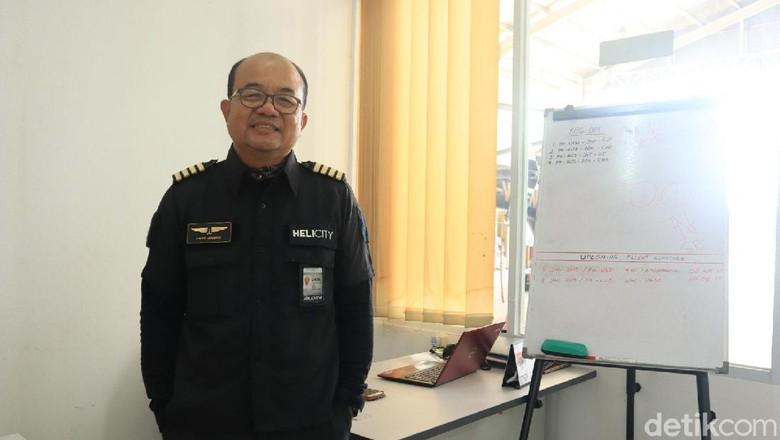 Capt Among Ronmarta, Pilot Rotary Wings dari Whitesky Aviation (Randy/detikcom)