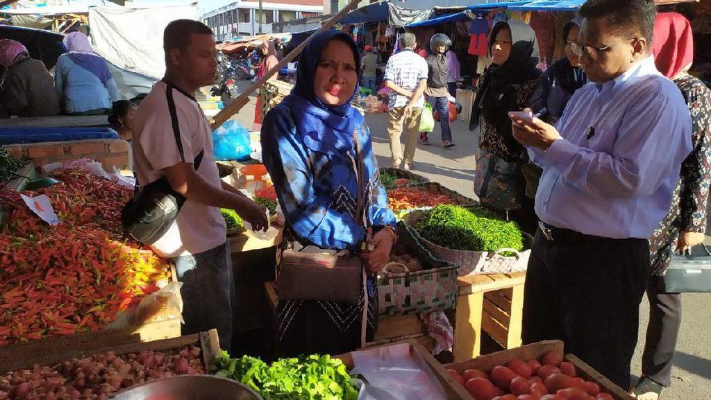 Pantau Harga Pangan di Pekanbaru, Kementan: Cukup dan Harga Normal