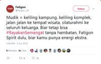 Mudik 2019, Netizen Ramai-ramai #RayakanSemangat