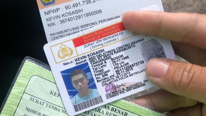 SIM pengendara Fortuner berpelat dinas Polri yang ditilang di kawasan Puncak (Foto: dok. Istimewa)