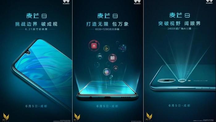 Poster promosi Huawei Maimang 8. Foto: Huawei via Gizmochina