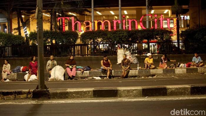 Gelandangan di Jakarta (rifki/detikcom)