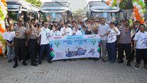 Antam Angkut 2000 Pemudik Naik Bus dan Kapal Laut