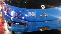 Bus TransJ Terlibat Tabrakan Beruntun di Underpass Gandaria City, 5 Terluka