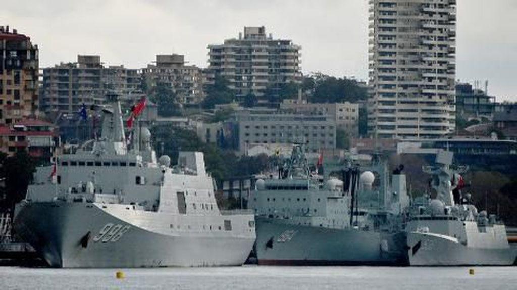 Warga Australia Kaget 3 Kapal Perang China Tiba-tiba Muncul di Sydney