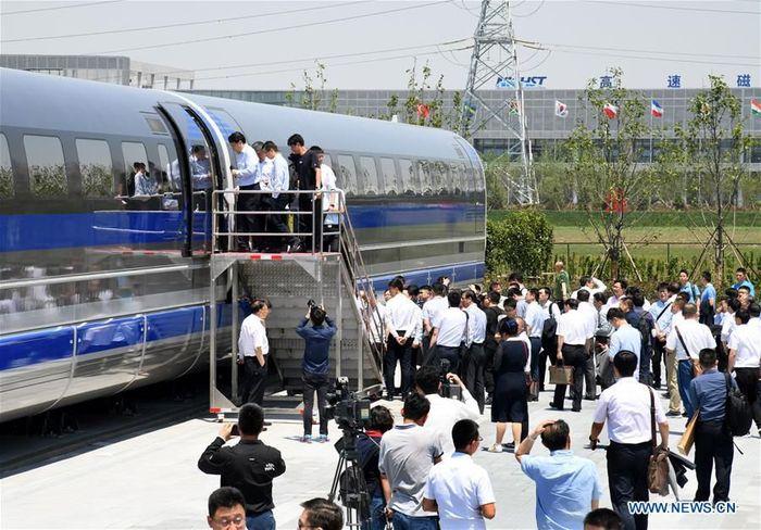 China baru saja meluncurkan produksi prototipe kereta levitasi magnetik pertamanya pekan lalu. Kecepatan kereta dirancang hingga 600 km per jam.Foto: Dok. Xinhuanet/Li Ziheng