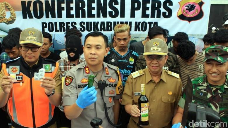 Jelang Lebaran, Aparat Ringkus 16 Anggota Geng Motor di Sukabumi