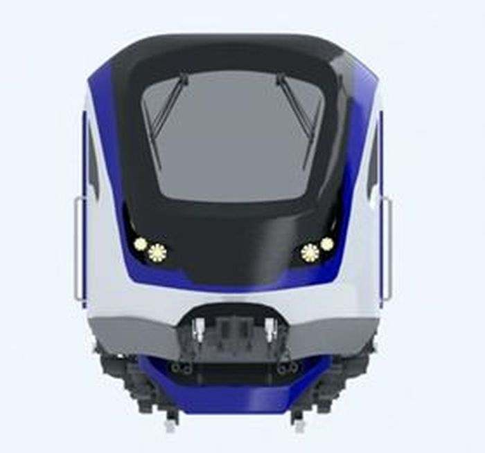 Ini adalah desain prototipe kereta semi cepat dari INKA.Foto: Dok. INKA