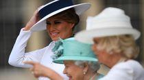 Deretan Gaya Elegan Melania Trump di Inggris, Total Rp 3 Miliar