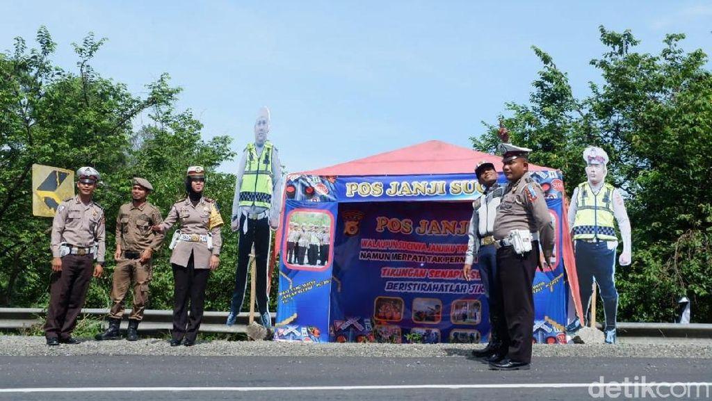 Janji Suci Polisi Aceh Besar di Lokasi Rawan Kecelakaan saat Mudik
