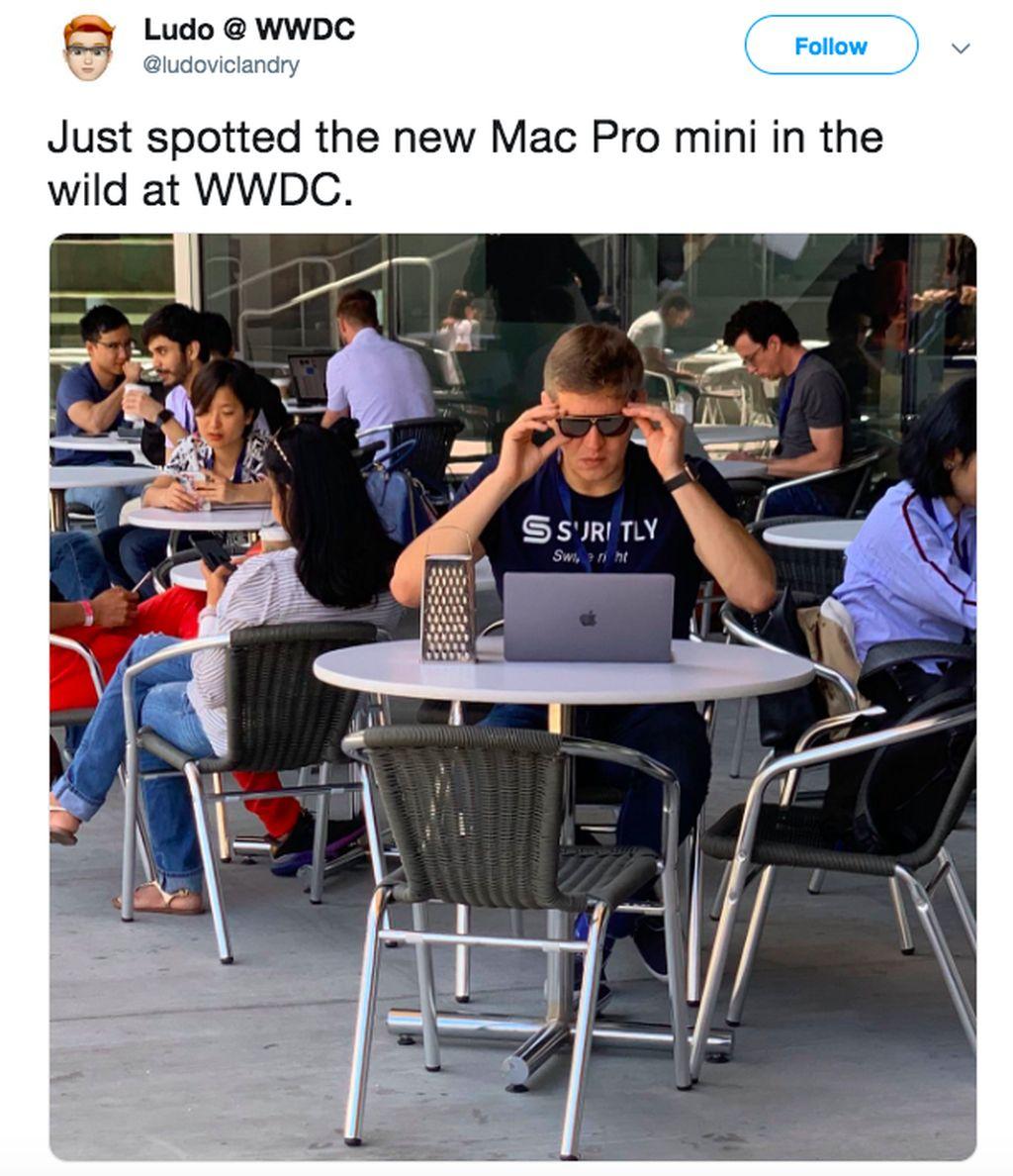 Wah, sudah ada Mac Pro Mini yang ternyata adalah parutan keju. Foto: istimewa