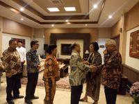 Menteri Keuangan Sri Mulyani Indrawati menggelar open house