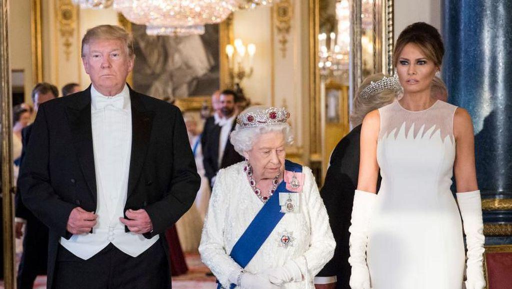 Ada Tamu Tak Terduga di Acara Makan Malam Trump dan Ratu Elizabeth