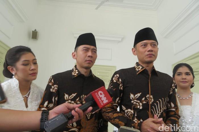 AHY dan Ibas Silaturahmi ke Jokowi di Istana
