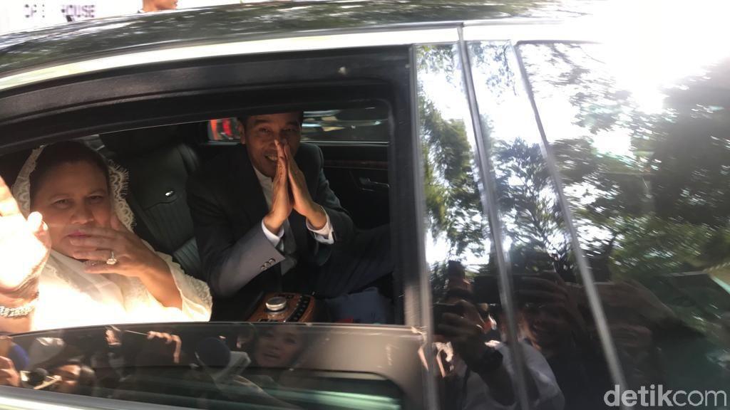 Usai Halalbihalal, Jokowi-Iriana dan Kaesang Tinggalkan Kediaman Mega