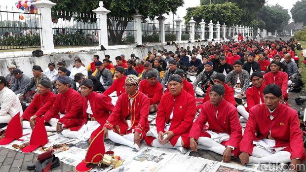 Prajurit Keraton Yogyakarta salat id