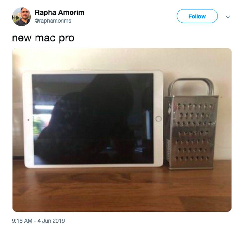 Pura-puranya, iPad menjadi monitor dan parutan keju jadi Mac Pro. Foto: istimewa