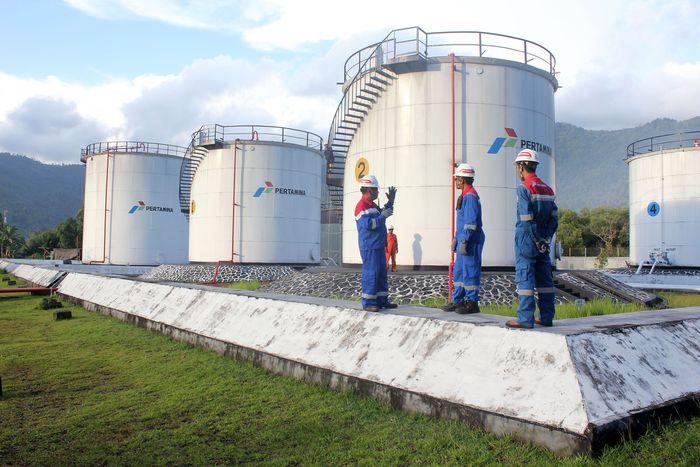 Terminal Bahan Bakar Minyak (TBBM) Tahuna, Kepulauan Sangihe, Sulawesi Utara menjadi salah satu lokasi yang karyawannya tetap bekerja di kala Lebaran. Istimewa/Pertamina.