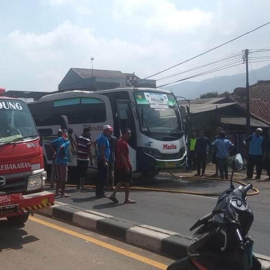 Mesin Bus Terbakar di Nagreg, Penumpang Selamat