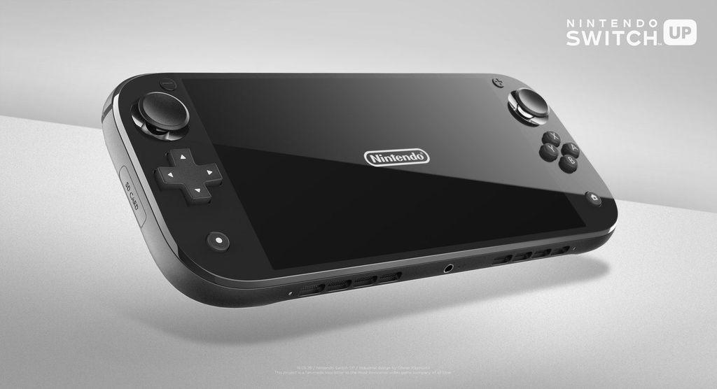 Berprofesi sebagai desainer, Olivier Raymond pun gatal untuk menuangkan imajinasinya akan Nintendo Switch terbaru seperti wujud ini. (Foto: Dok. Olivier Raymond)