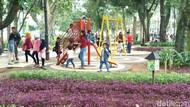 Tong Sampah-Lampu Taman di Bandung Raib Dicuri Selama PSBB