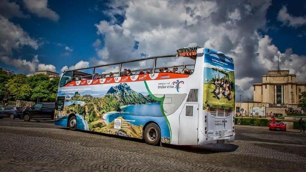 Wonderful Indonesia Hiasi Open Great Bus di Piala Dunia Wanita 2019