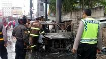 Minibus Terbakar di Lingkar Selatan Sukabumi, Penumpang Selamat