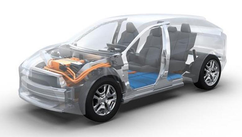 Mobil SUV listrik Toyota-Subaru Foto: Toyota