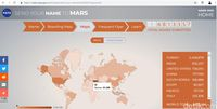 Terlihat jumlah sementara pendaftaran nama asal Indonesia untuk dikirimkan ke Mars..