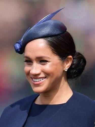 Meghan Markle di Trooping the Colour untuk merayakan ulang tahun Ratu Elizabeth II ke-93