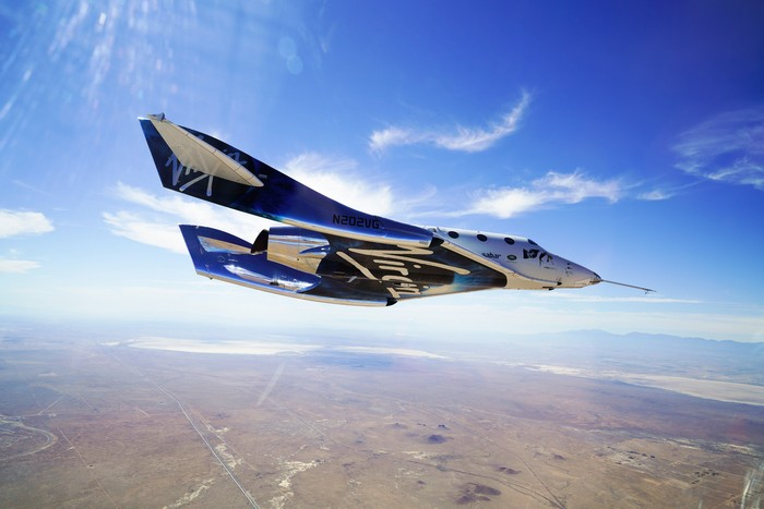 Pesawat wisata Virgin Galactic. Foto: Virgin Galactic