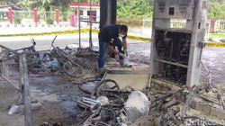 Motor Diduga Korslet Saat Isi BBM, SPBU di Bangka Terbakar