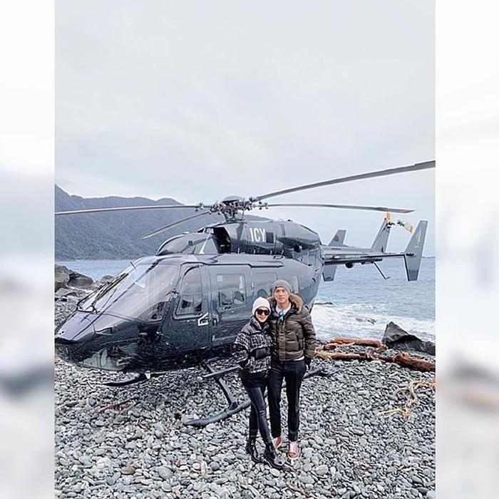 Syahrini dan Reino Barack liburan ke New Zealand. Foto: Dok. Instagram @princessyahrini