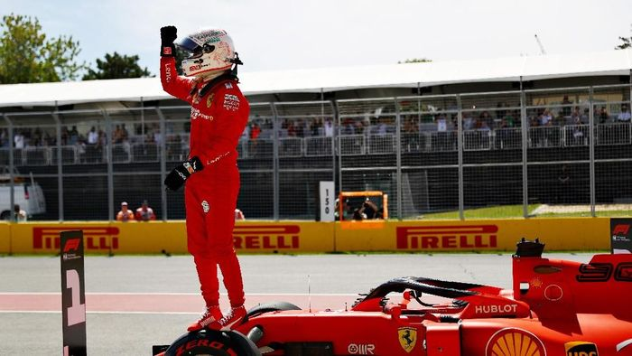 Sebastian Vettel raih pole di F1 GP Kanada 2019 (Mark Thompson/Getty Images)