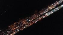 Potret dari Udara Kemacetan Simpang Susun Cikampek Tadi Malam