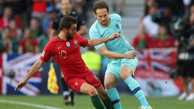 Portugal (merah) memiliki banyak peluang di babak pertama.