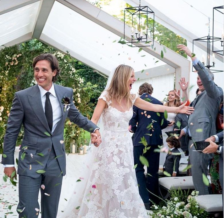 Gwyneth Paltrow dan Brad Falchuk resmi menikah pada September 2018.Dok. Instagram/gwynethpaltrow